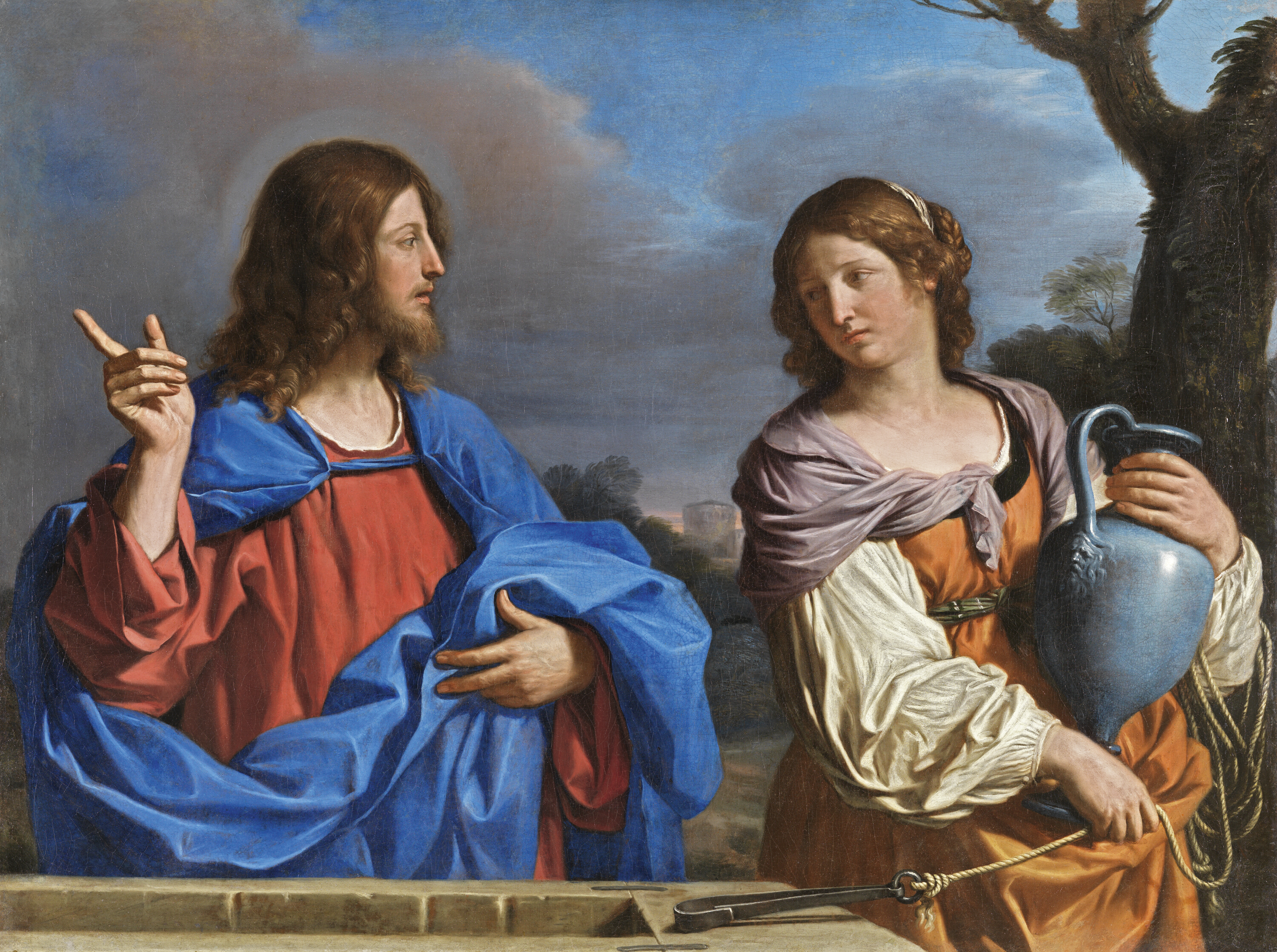 Christ and the Woman of Samaria at the Well - Guercino