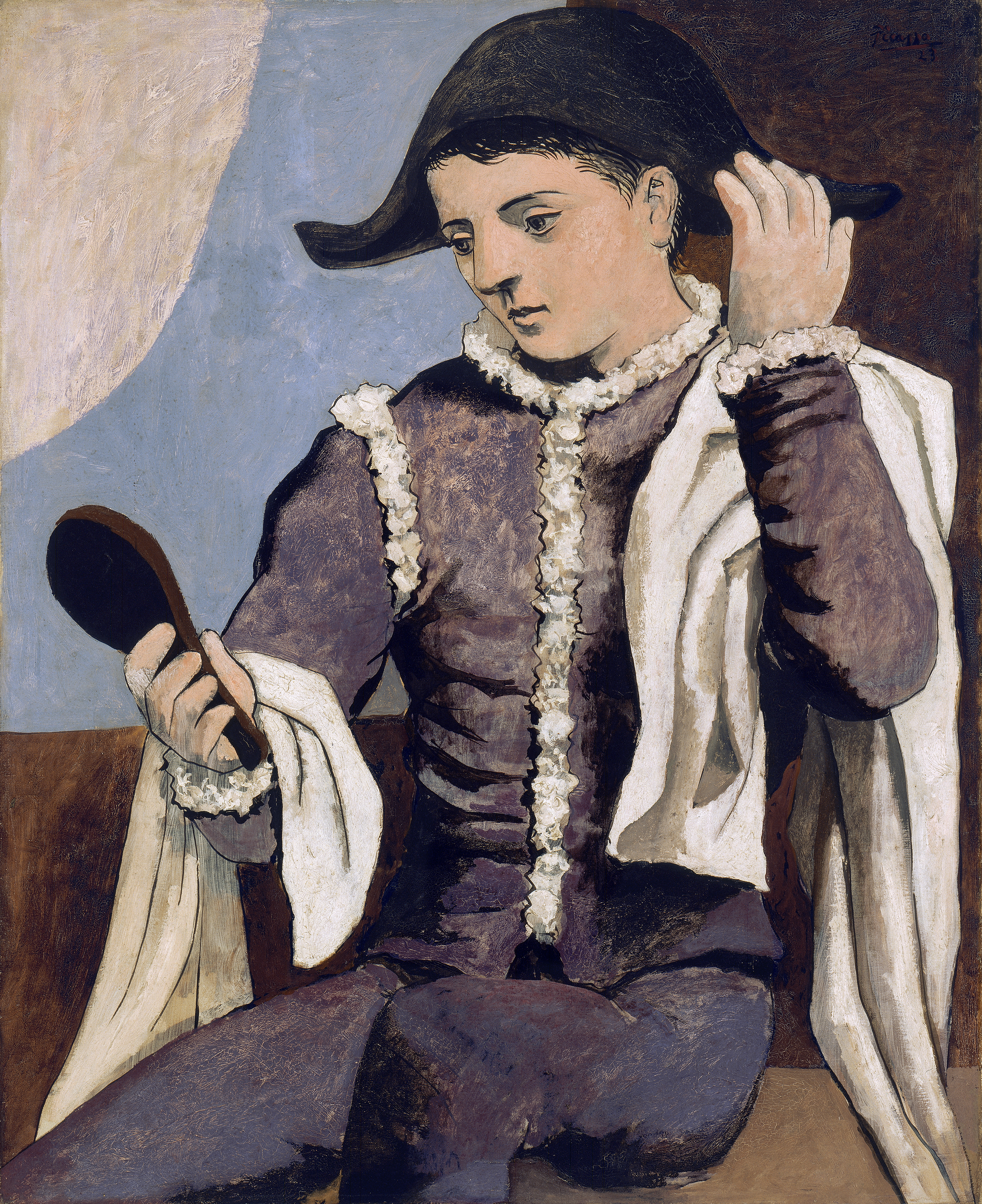Harlequin with a Mirror - Picasso, Pablo | Museo Nacional Thyssen ...