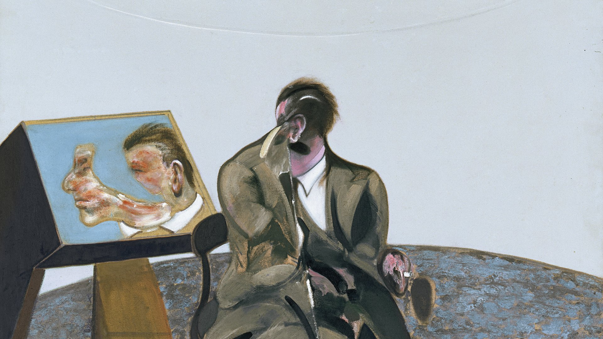 Portrait Of George Dyer In A Mirror Bacon Francis