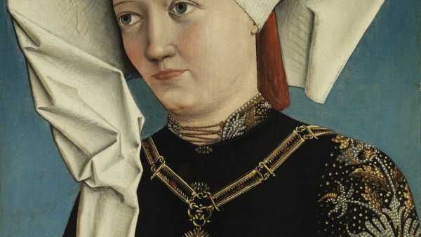 Portrait of a Lady wearing the Order of the Swan. Anónimo ALEMÁN h 1490