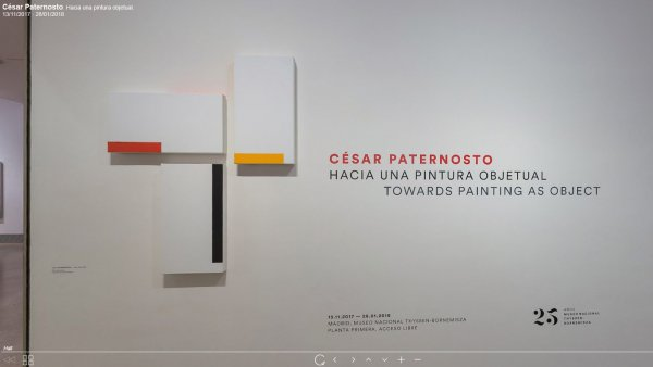 Virtual visit César Paternosto. Towards painting as object.