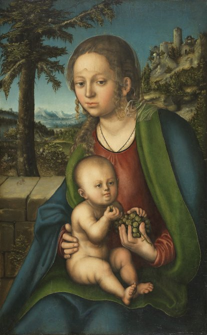 The Virgin and Child with a Bunch of Grapes