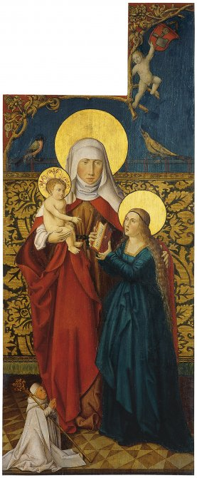 Saint Anne with Virgin and Child and a Donor (Exterior left wing)