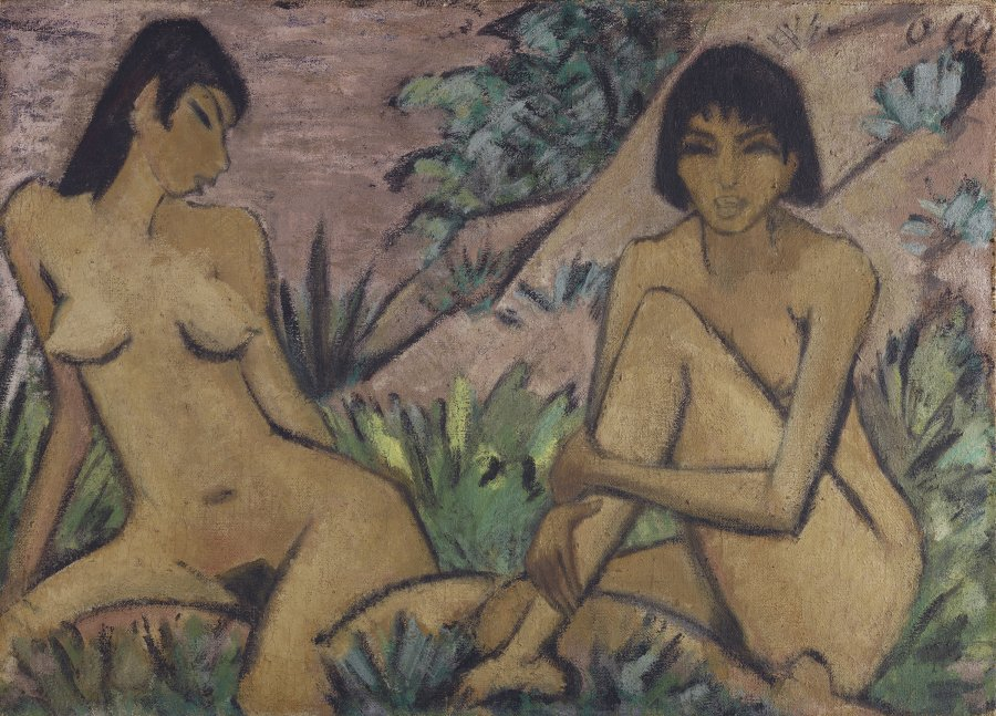 Two Female Nudes in a Landscape