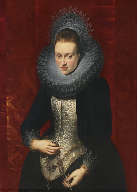Portrait of a Young Woman with a Rosary
