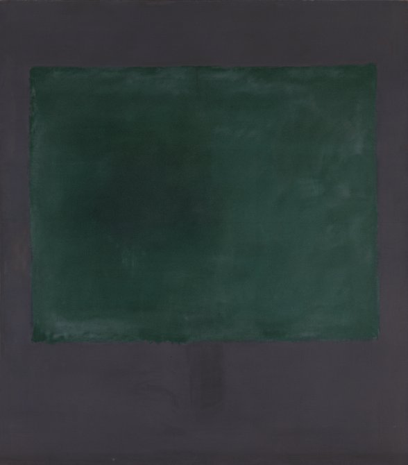 Untitled (Green on Maroon)