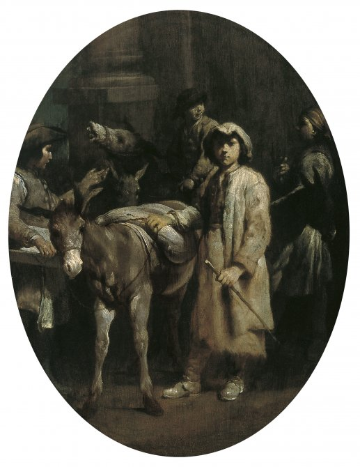 Peasants with Donkeys