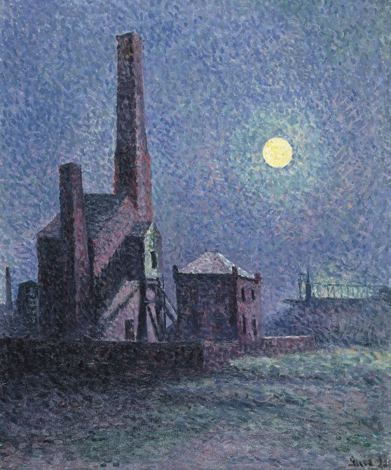 Factory in the Moonlight