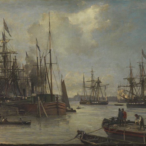 A View of the Harbour, Rotterdam