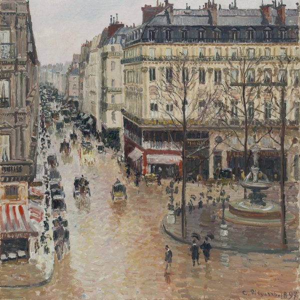 Rue Saint-Honoré in the Afternoon. Effect of Rain