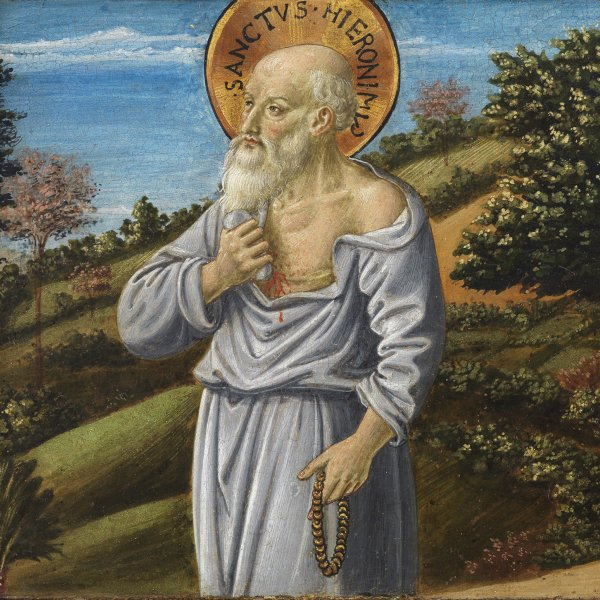 Saint Jerome and the blessed Bartolo Buompedoni of San Gimignano
