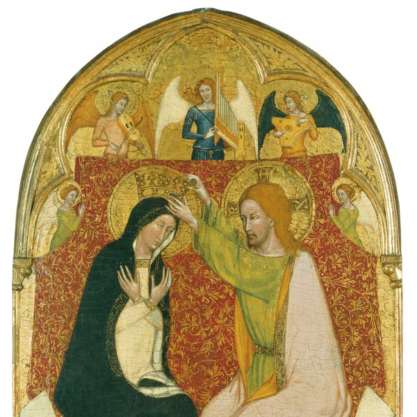 The Coronation of the Virgin with five Angels