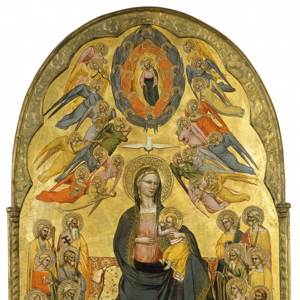 The Virgin of Humility with the Holy Father, the Holy Spirit and the twelve Apostles