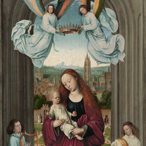 The Virgin and the Child between Angels
