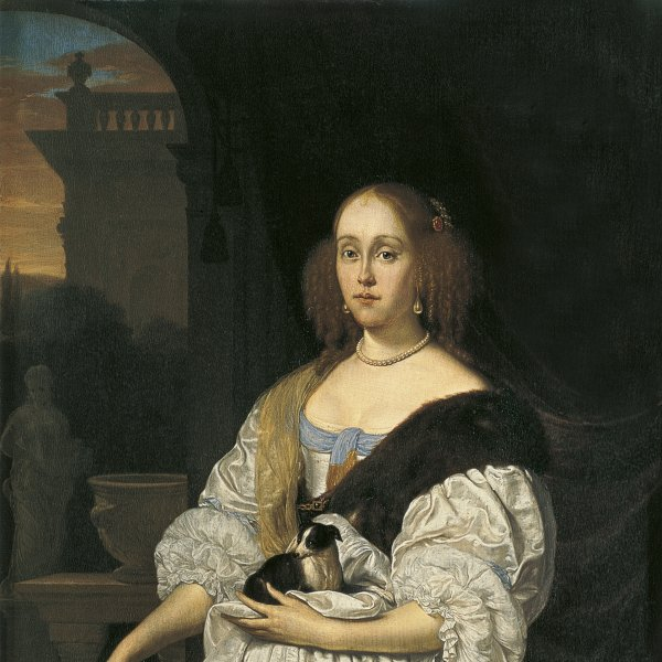 Portrait of a Woman with a Lapdog