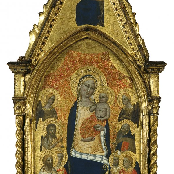 The Virgin and Child between Angels and six Saints