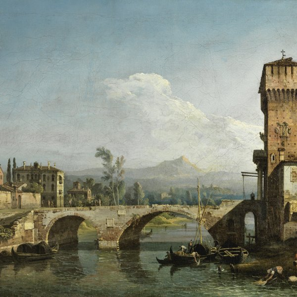 Capriccio with a River and Bridge