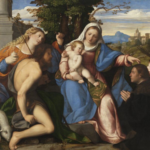 The Virgin and Child with Saints and a Donor
