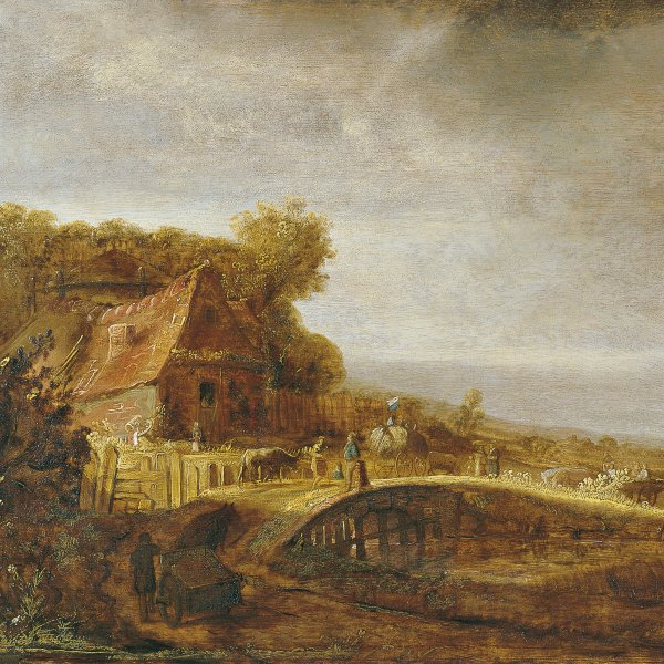 Landscape with a Farm and a Bridge