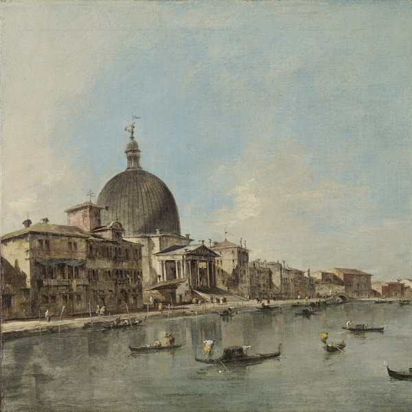 The Grand Canal with San Simeone Piccolo and Santa Lucia