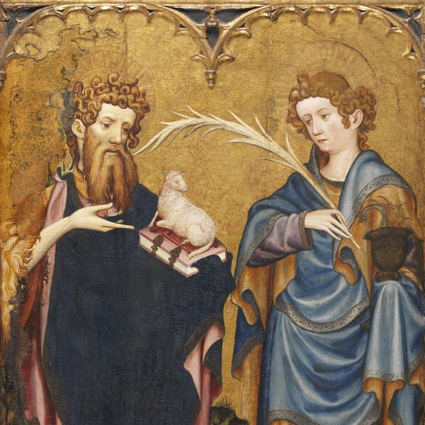 Saint John the Baptist and Saint John the Evangelist with a Donor