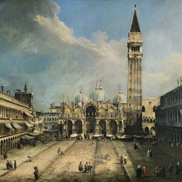 Special support for the restoration and technical study of the museum's Canaletto