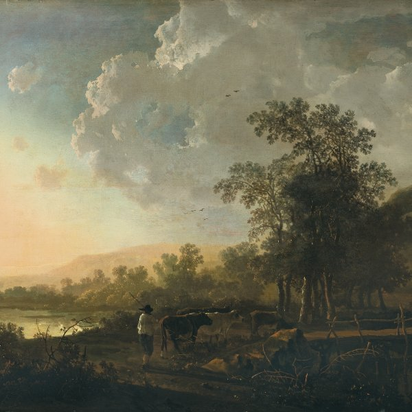 Landscape with a Sunset
