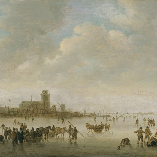 Winter Landscape with Figures on Ice