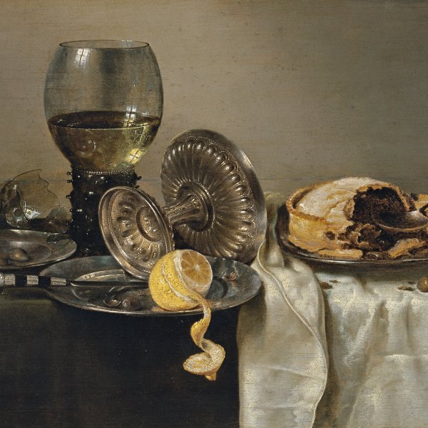 Still Life with Fruit Pie and various Objects