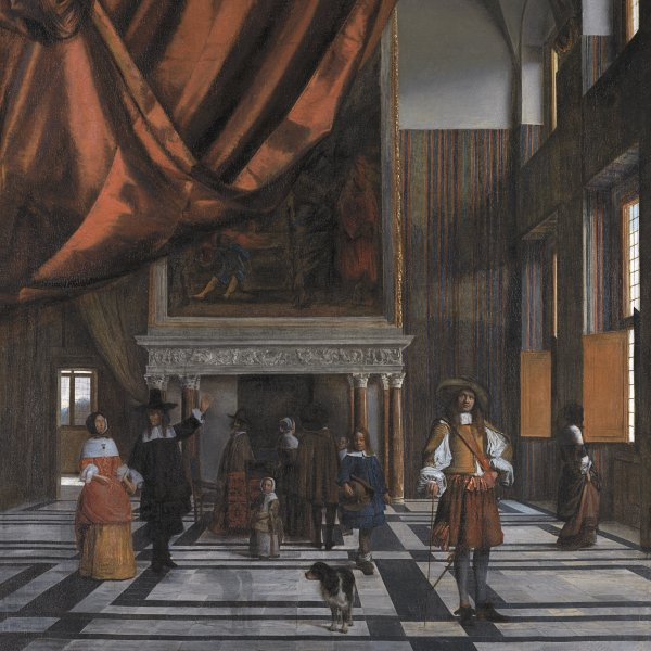 Interior of the Council Chamber of Amsterdam Town Hall