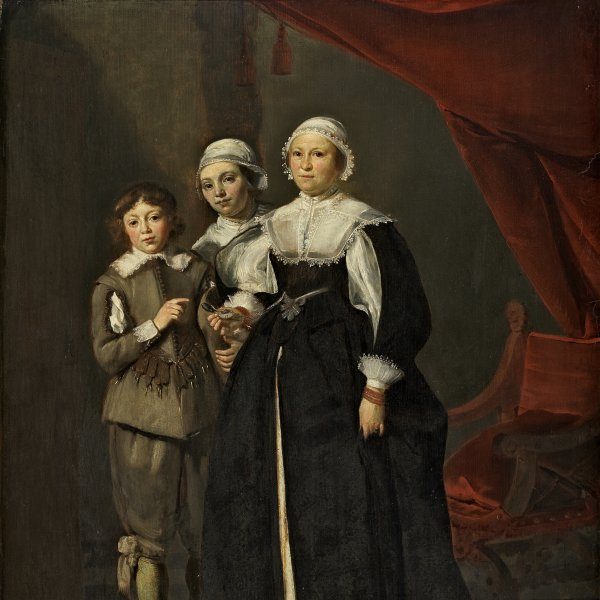 Portrait of Two Women and a Boy