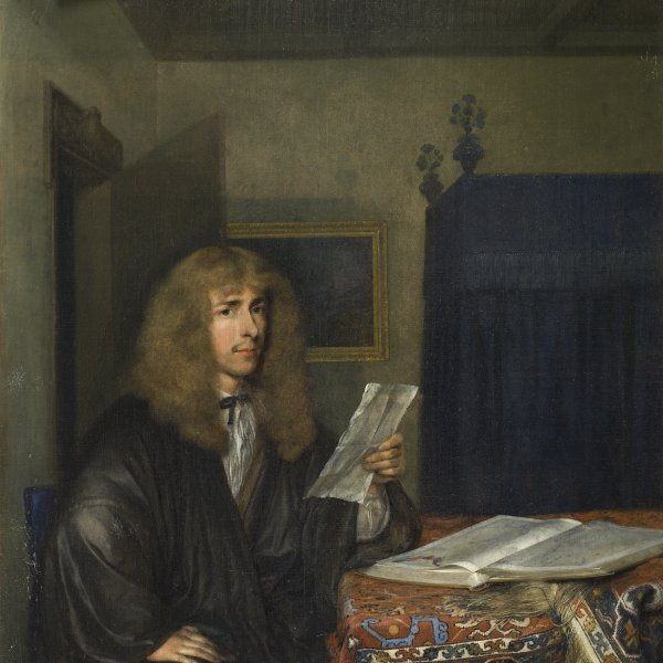 Portrait of a Man reading a Document