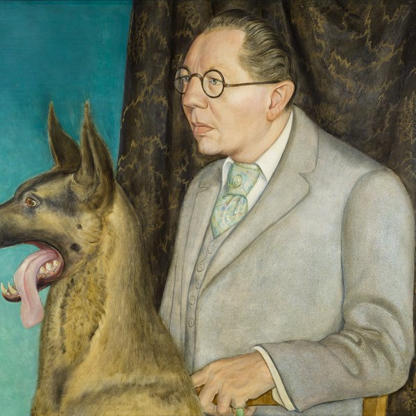 Hugo Erfurth with Dog