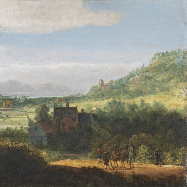 Landscape with Armed Men