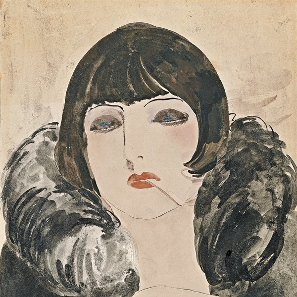 Portrait of a woman with a cigarette (Kiki de Montparnasse)