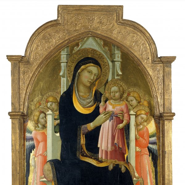 The Virgin and Child enthroned with six Angels
