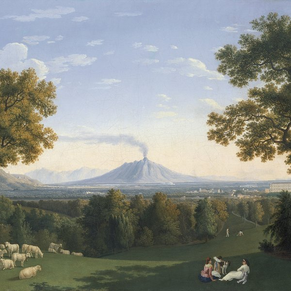 Landscape with the Palace at Caserta and Vesuvius