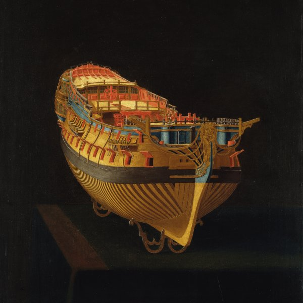 Model of a Ship, Stern View