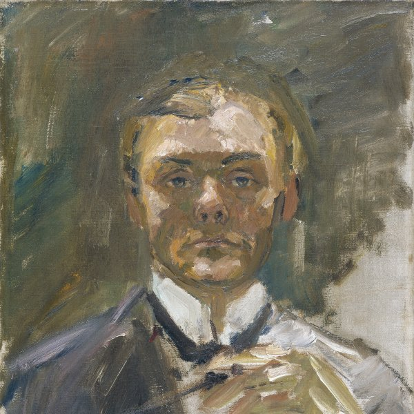 Self-Portrait with Raised Hand
