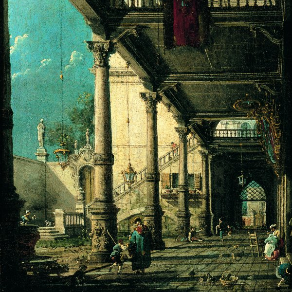 Capriccio with Colonnade in the Interior of a Palace