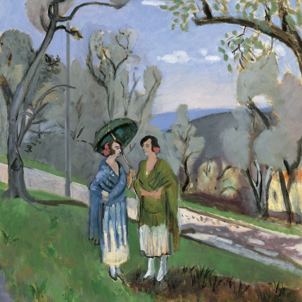 Conversation under the Olive Trees