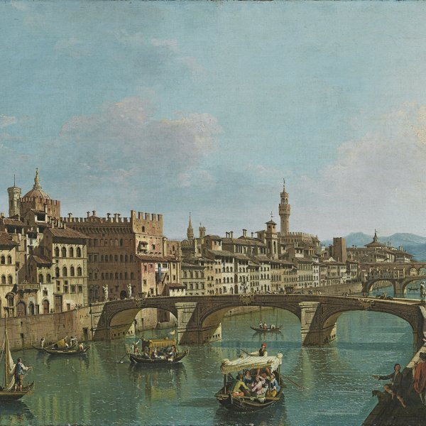 The Arno River at the Santa Trinita Bridge
