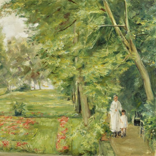 The Artist´s Granddaughter with her Governess in the Wannsee Garden