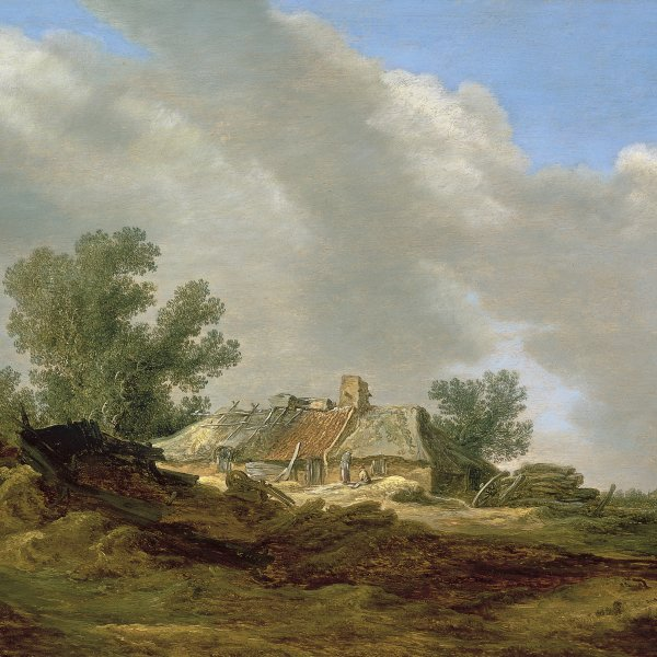 Dune Landscape with Cottage and Figures