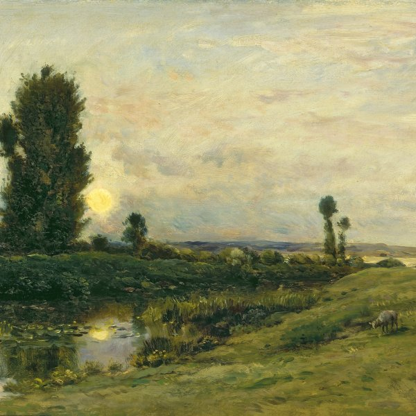 Moonrise on the Banks of the River Oise
