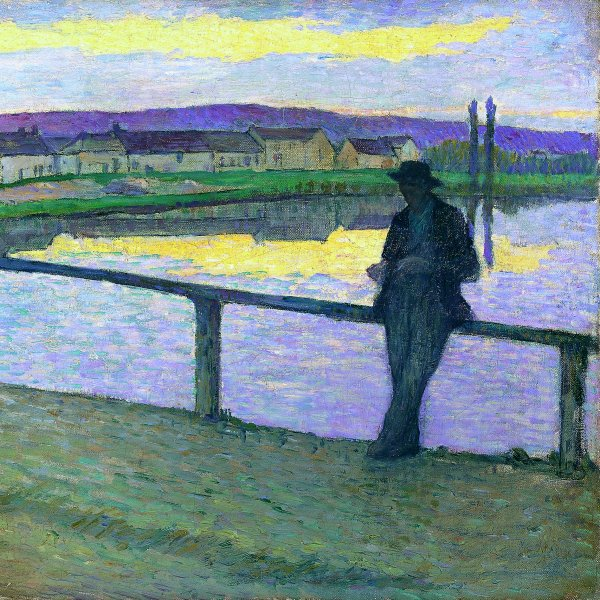 Sunset on Pont-Aven (Young Man by the Sea)