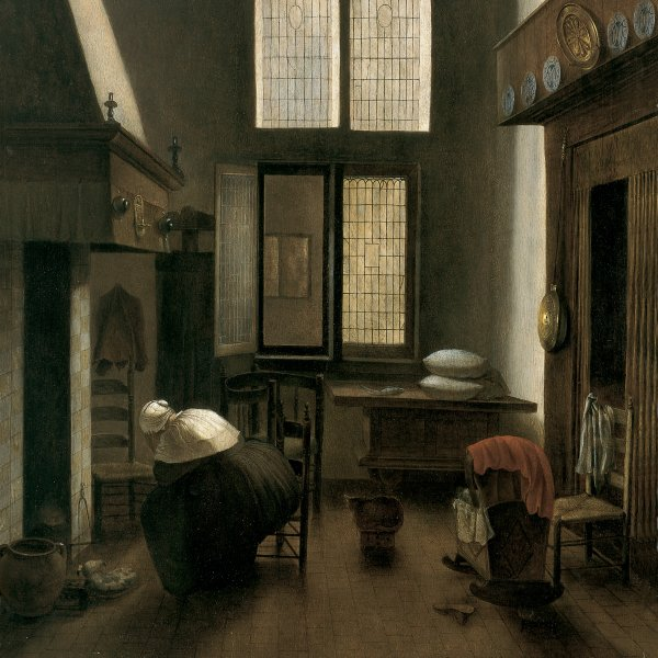 Interior with a Woman Seated by a Hearth
