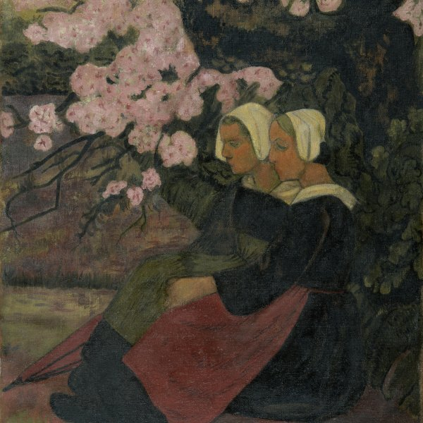 Two Breton Women under an Apple Tree in Flower