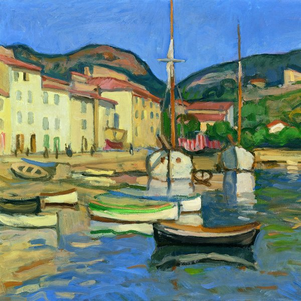 Harbour of Cassis with Two Tartanes
