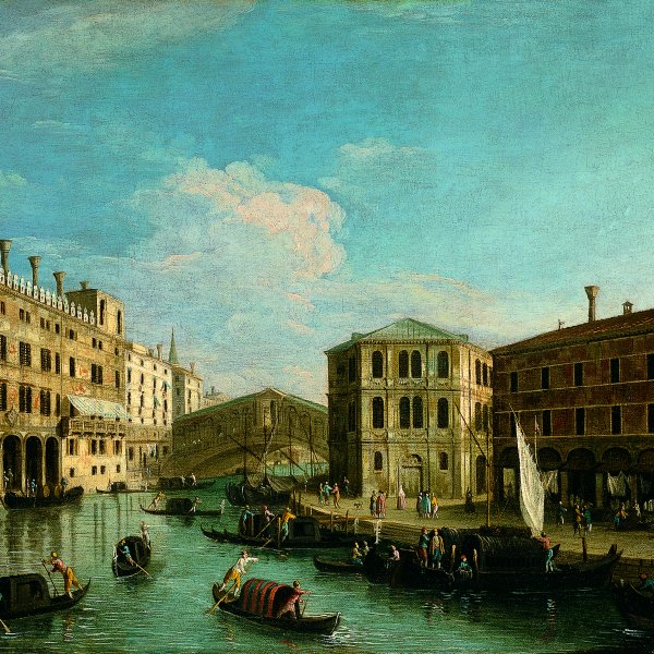 The Grand Canal and the Rialto Bridge, Venice, from the North